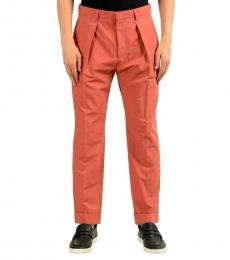 Coral Pleated Casual Pants