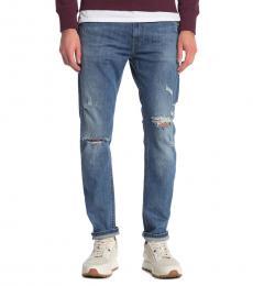 Diesel Denim Thommer Slim Skinny Distressed Jeans