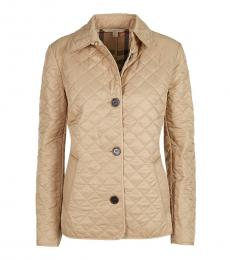 Burberry Beige Classic Quilted Jacket