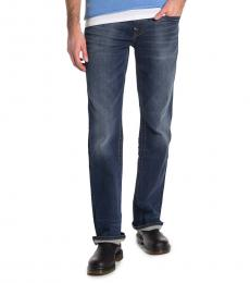 Dark Blue Billy Relaxed Bootcut Jeans