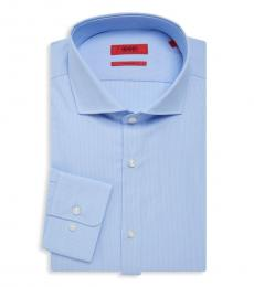 Light Blue Pinstriped Sharp-Fit Shirt