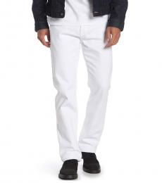 White Ricky Flap Pocket Straight Leg Jeans