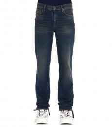 Blue Slim Basic Jeans