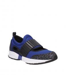 Armani Jeans Blue Black Back Logo Sneakers