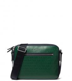 Michael Kors Green Hudson Medium Crossbody Bag