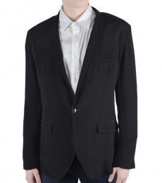Dolce & Gabbana Black Silk One Button Blazer
