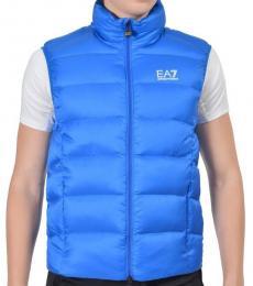 Emporio Armani Blue Duck Down Full Zip Jacket