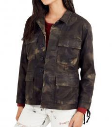 True Religion Rough Turf Coated Military Jacket