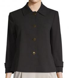 Calvin Klein Black Button Front Jacket