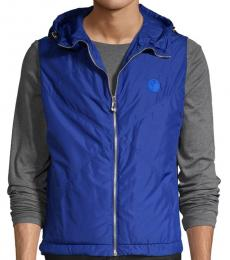 Versace Collection Royal Blue Down Hooded Vest