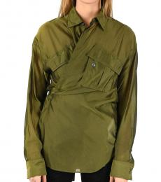 Olive French Collar Shirt