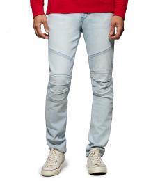 True Religion Cold Blues Rocco Moto Jeans