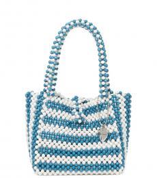 Betsey Johnson Blue Just Bead It Mini Tote