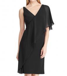 Ralph Lauren Black Ruffled Sleeveless Dress