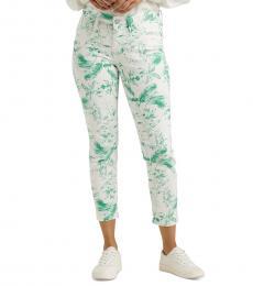 Lucky Brand White Lolita Printed Skinny Jeans