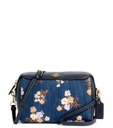 Floral Denim Small Crossbody Bag