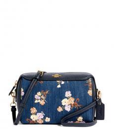 Coach Floral Denim Small Crossbody Bag