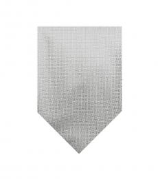 Burberry Beige Classic Plaid Print Silk Tie