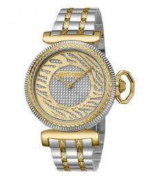 Roberto Cavalli Silver Gleaming Watch