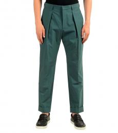 Teal Pleated Casual Pants
