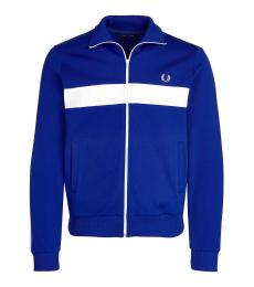 Fred Perry Royal Blue Colorblock Logo Jacket