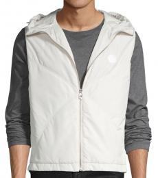 Versace Collection White Down Hooded Vest