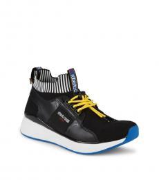 Black Knitted Sock Sneakers