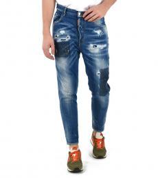Blue Vintage Effect Jeans