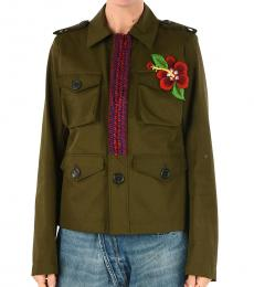 Dsquared2 Olive Embroided Jacket