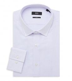 Hugo Boss Off White Jenno Slim-Fit Dress Shirt