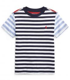 Little Boys Newport Navy Multi Striped T-Shirt