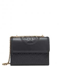 Tory Burch Black Convertible Medium Shoulder Bag