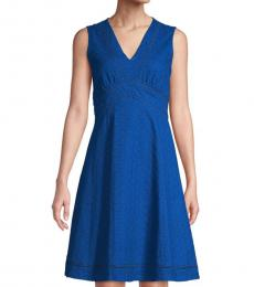 Blue Fit-And-Flare Dress