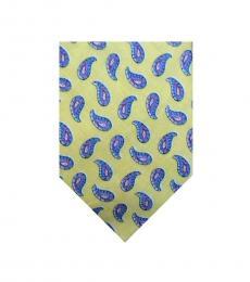 Ralph Lauren Yellow Neat Paisley Tie