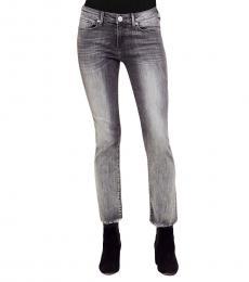 Eternal Grey Cigarette Cropped Jeans