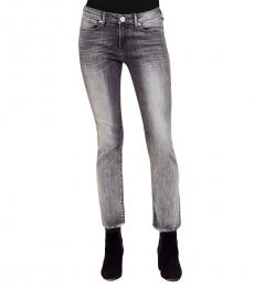True Religion Eternal Grey Cigarette Cropped Jeans