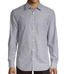 Calvin Klein White Multi Checkered Classic-Fit Shirt