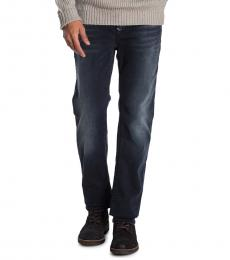 True Religion Navy Blue Ricky Super T Straight Jeans