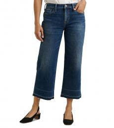 Lucky Brand Denim Mid-Rise Wide-Leg Cropped Jeans