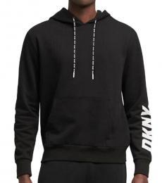 DKNY Black Logo Sleeve Hoodie Sweatshirt