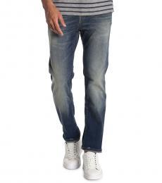Blue Rocco Flap Pocket Skinny Jeans