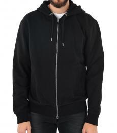 Black Printed Hooded Sweatshirt
