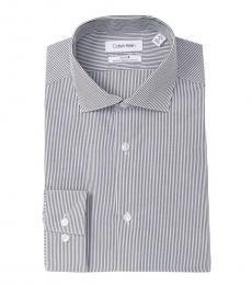 Smokey Striped Slim Fit Dress Shirt