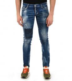 Dsquared2 Blue Vintage Effect Slim Fit Jeans