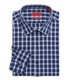 Navy Blue Mabel Sharp-Fit Dress Shirt