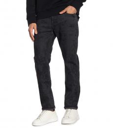 True Religion Black Geno Relaxed Slim Fit Jeans