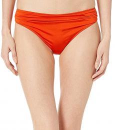 Stella McCartney Orange Draped Classic Bikini Bottom
