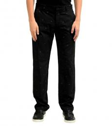 Black Detailed Casual Pants