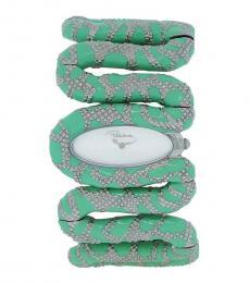 Mint Silver Snake Watch
