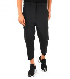 Black Virgin Wool Blend Pants